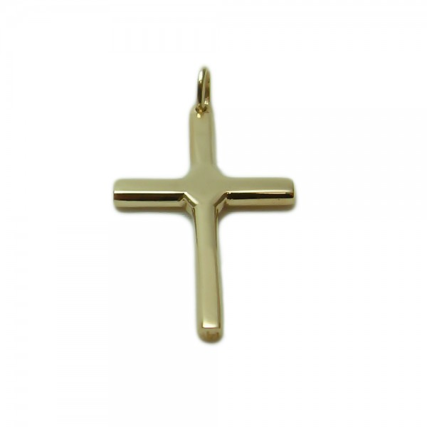 Yellow-Gold-Cross-with-Center-Accent-1