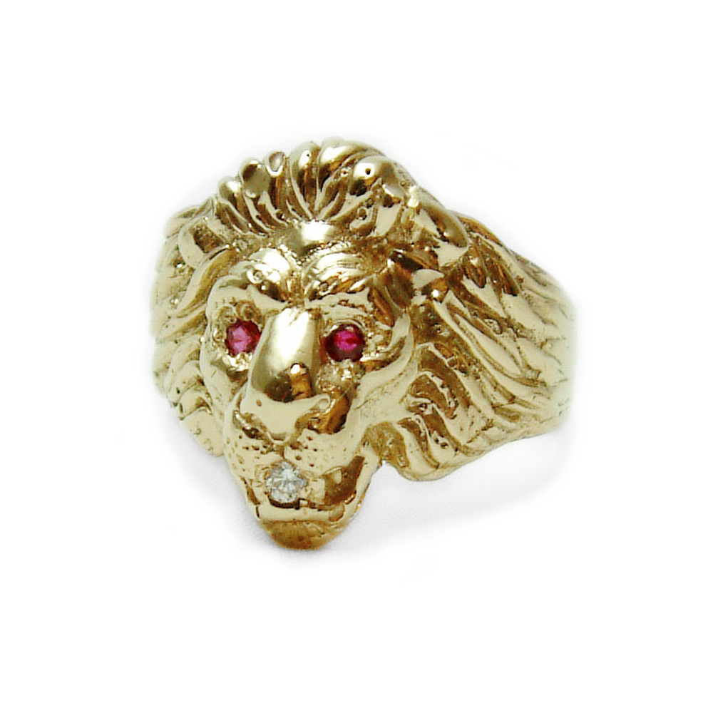 Mens Gold Ruby Rings