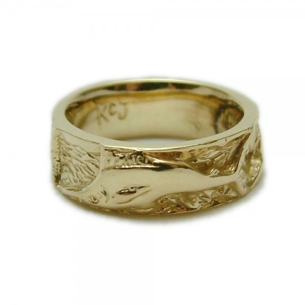 Gold Marlin Eternity Ring Collections Nautical Kokkinos Creative Jewelers