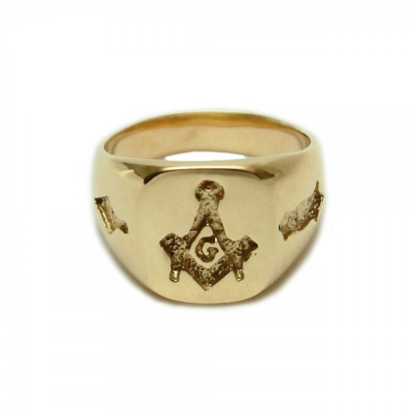Gold Lion Ruby Eyes Ring Mens