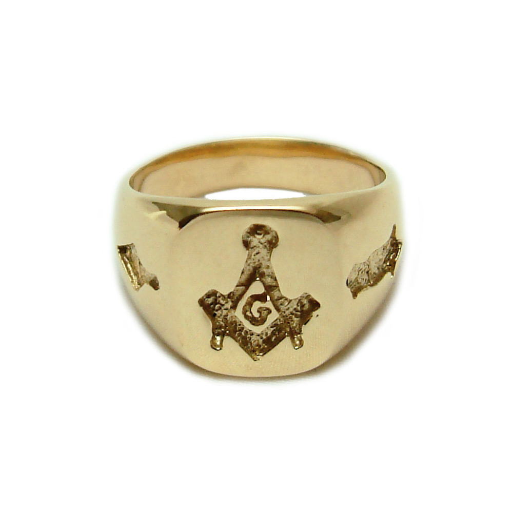 14k gold masonic ring mens kokkinos creative jewelers