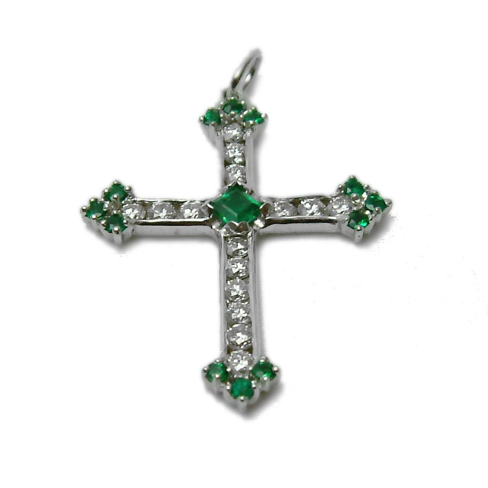 Emerald Amp Diamond Cross Collections Religious