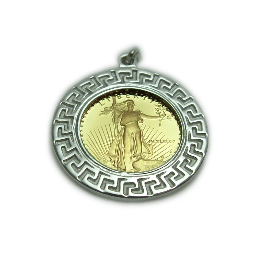 Greek Key Amp Coin Pendant Made To Order Custom