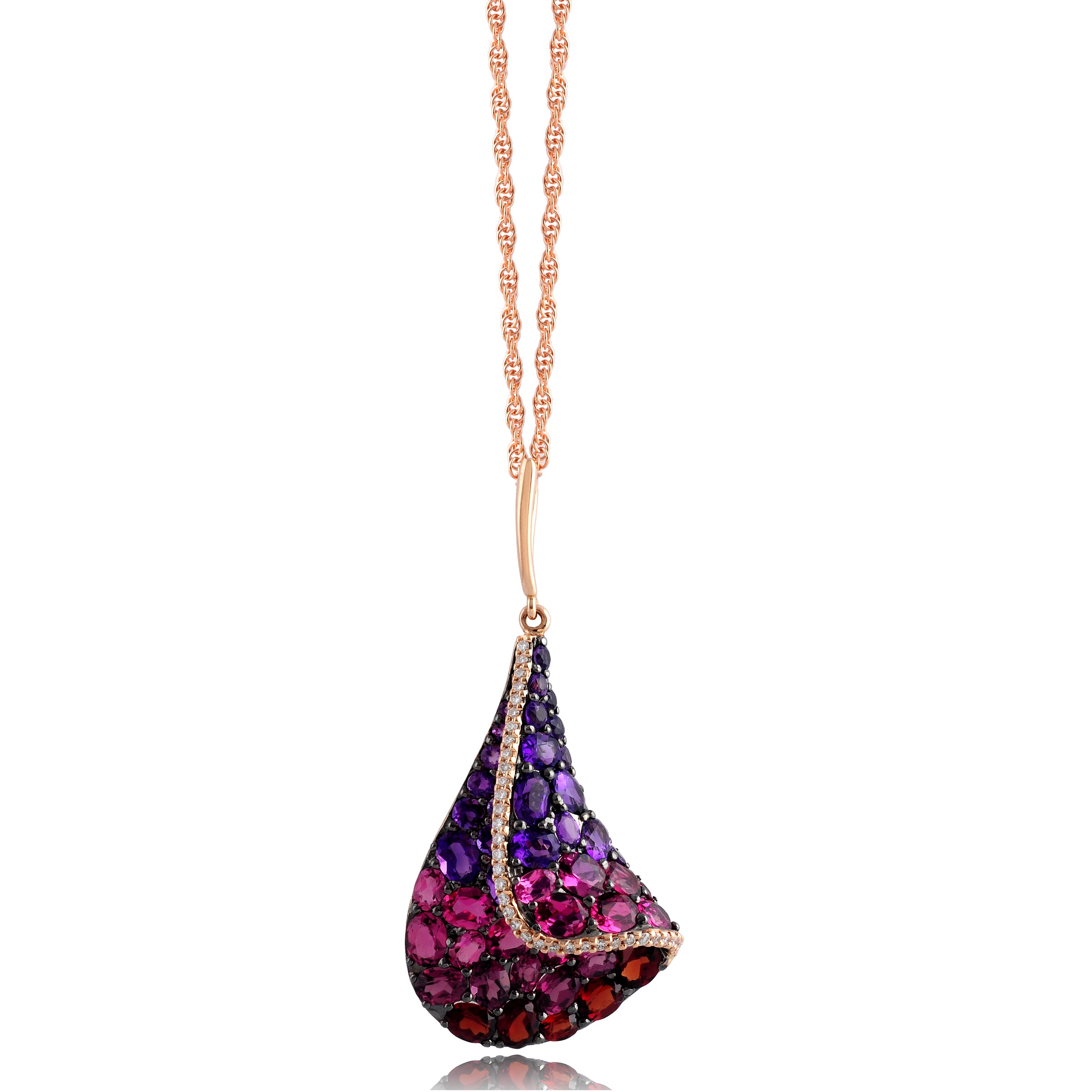 with k mg white gold tourmaline pink pendant diamond featuring