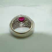18K White Gold Ruby and Diamond Ring11