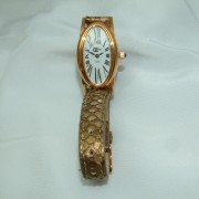 Ladies Rose Gold Plated Watch with a Genuine Ostrich Strap1