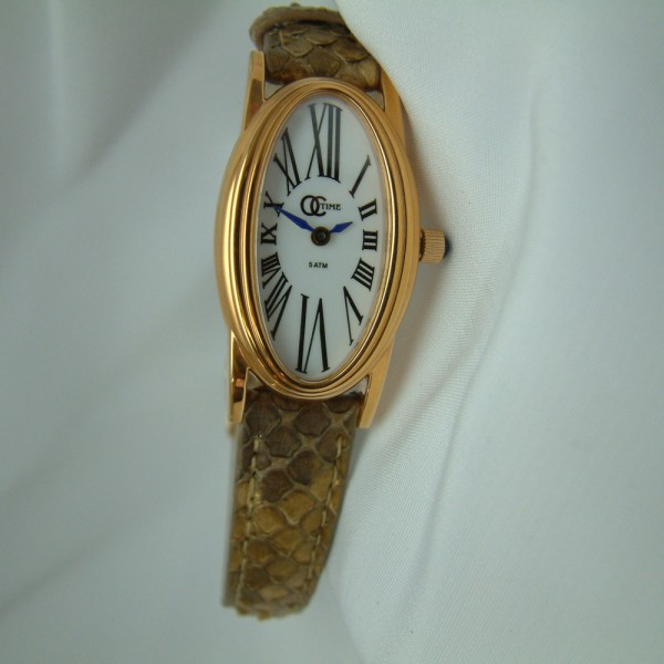Ladies Rose Watch with a Genuine Ostrich Strap featured