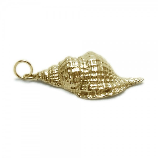 Yellow-Gold-Large-Conch-Shell-Pendant